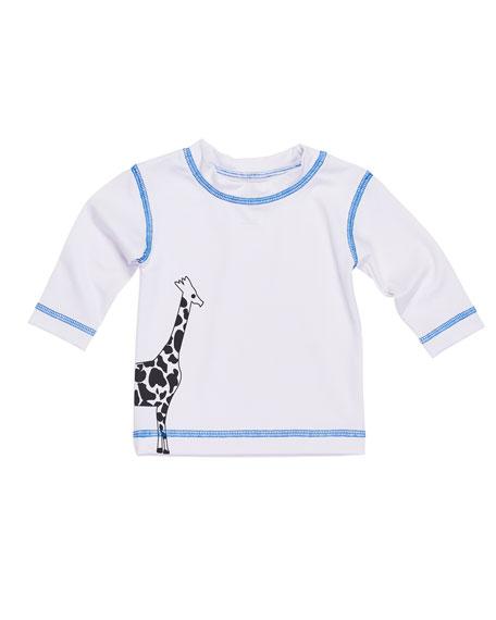 Florence Eiseman Giraffe Long-Sleeve Knit Shirt, Size 6-24