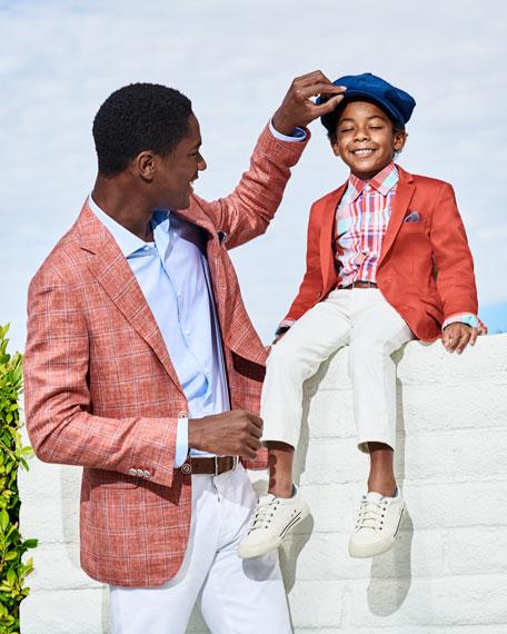 Boys' Cotton-Stretch Blazer,  Size 2-14