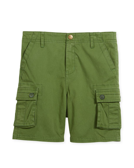 Appaman Mesa Cotton-Stretch Cargo Shorts, Size 2-10