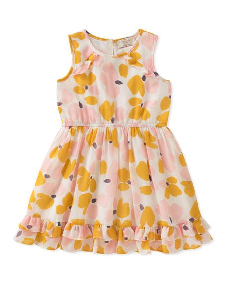 kate spade new york Ruffle-Hem Floral Sleeveless Dress,