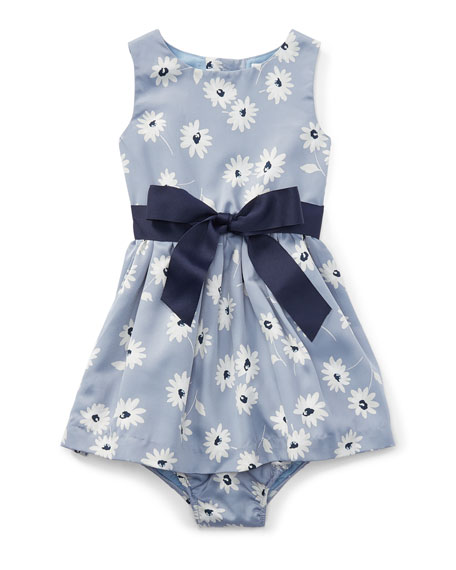 Ralph Lauren Childrenswear Twill Floral Dress w/ Bloomers,