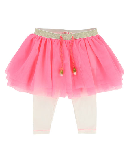 Billieblush Leggings w/ Attached Tulle Skirt, Size 2-3