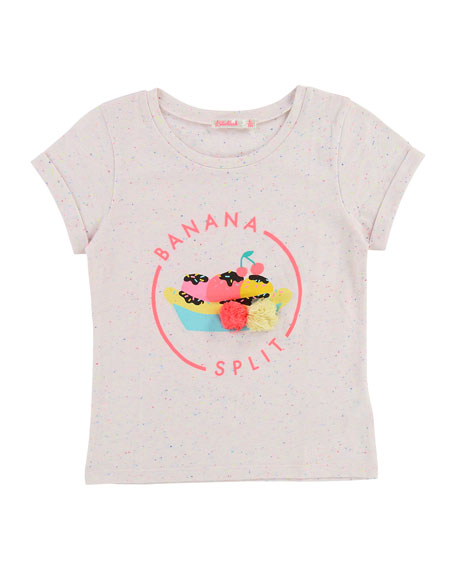 Billieblush Short-Sleeve Banana Split T-Shirt, Size 2-8