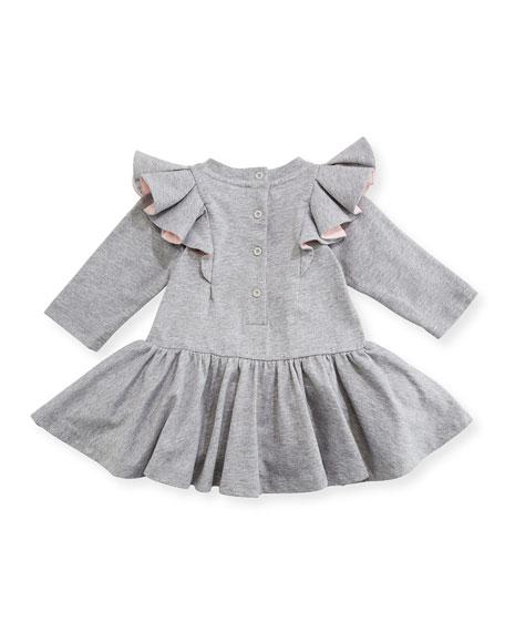 Fur Pompom Fit & Flare Dress, Size 12-24 Months
