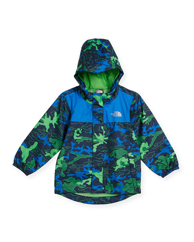 Tailout Camouflage Rain Jacket, Blue, Size 2-4T