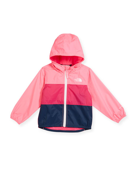 The North Face Flurry Tricolor Wind Jacket, Pink,