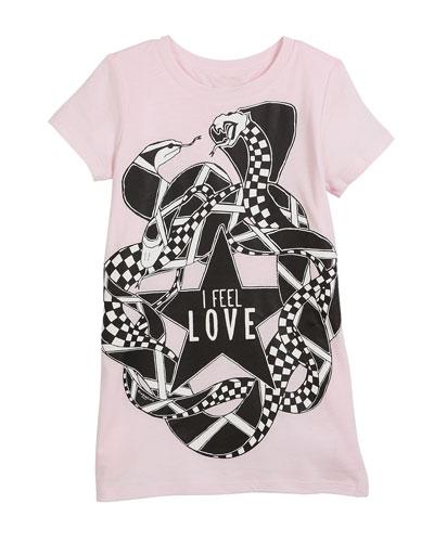 I Feel Love Snakes Jersey Shirt Dress, Size 12