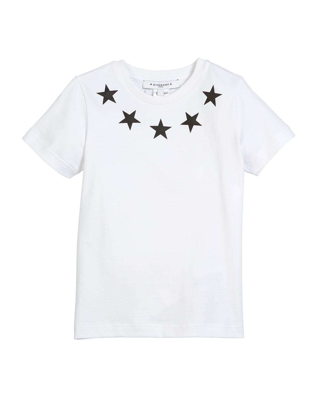 Givenchy Short-Sleeve Stars-Collar Cotton T-Shirt dc42a6d20e1b