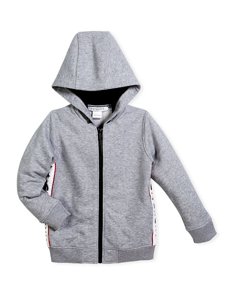 Givenchy Hooded Jacket w/ Logo Sides, Size 6-10