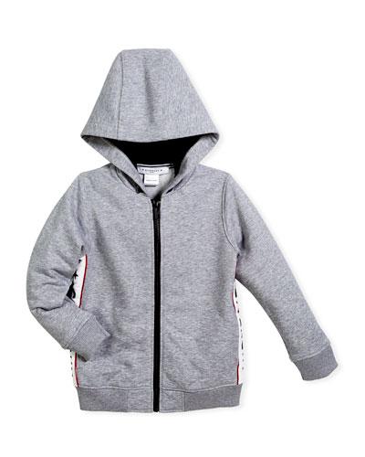 Hooded Jacket w/ Logo Sides, Size 4-5