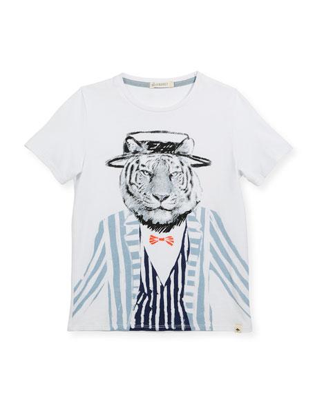 Billybandit Cotton T-Shirt w/ Tiger Graphic, Size 2-8