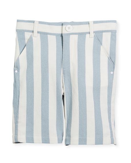 Billybandit Striped Twill Bermuda Shorts, Size 2-8