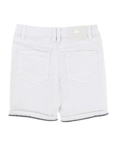 Rolled-Cuffs Denim Shorts, Size 2-8