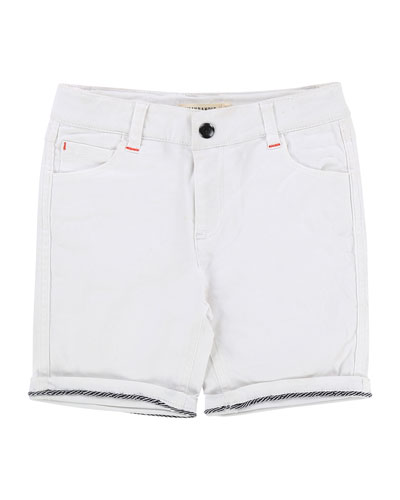 Rolled-Cuffs Denim Shorts, Size 2-8