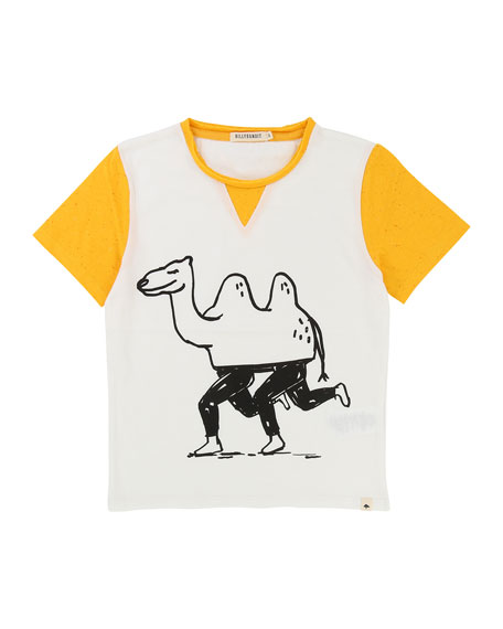 Billybandit Two-Tone Camel T-Shirt, Size 2-8
