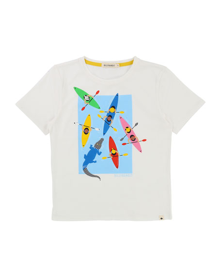 Billybandit Cotton T-Shirt w/ Paddle Boats Graphic, Size