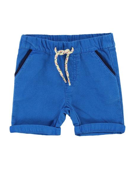 Cotton Canvas Drawstring Shorts, Size 12M-3T