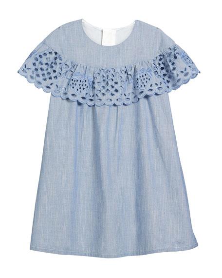 Strawberry Eyelet Ruffle Dress, Size 6-10