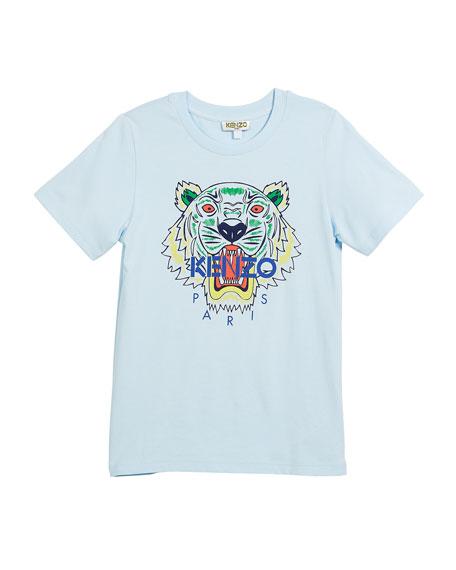 Kenzo Short-Sleeve Logo Tiger Face T-Shirt, Size 2-6