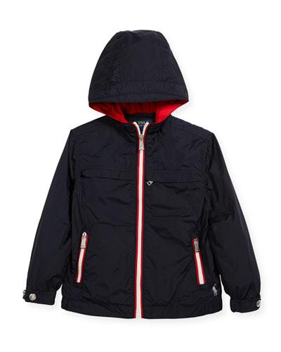 Nylon Taffeta Hooded Jacket, Size 2-4