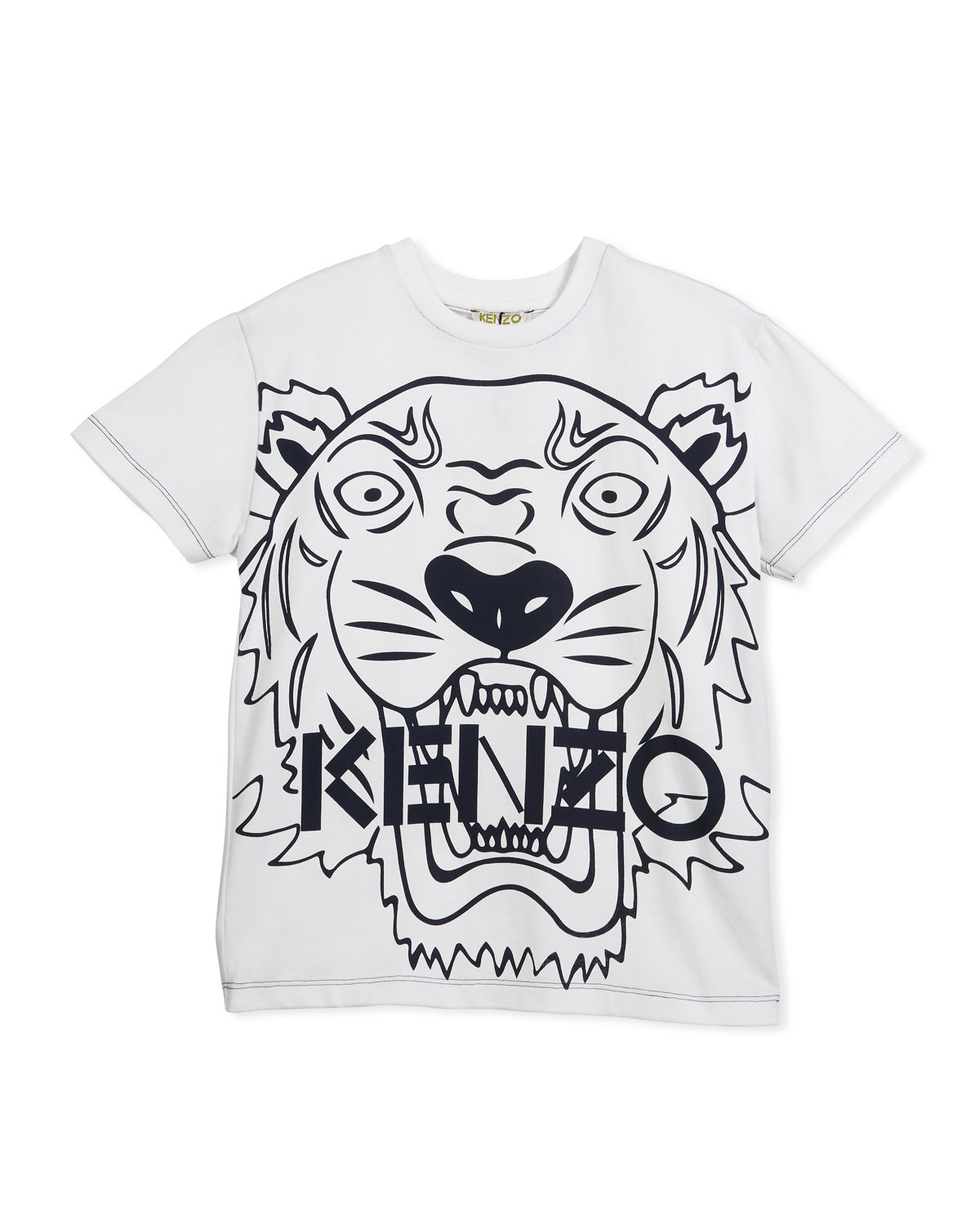 9078c477a Kenzo Oversized Tiger Face Graphic T-Shirt, Size 8-12   Neiman Marcus