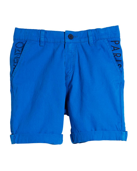 Chino Shorts w/ Logo Pockets, Size 8-12