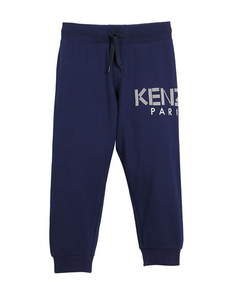 Kenzo Drawstring Logo Sweatpants, Size 4-6 and Matching