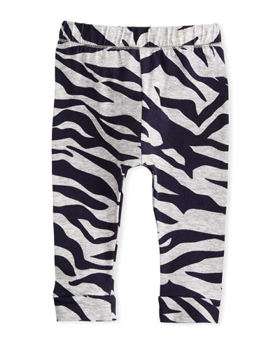 Tiger Stripe Stretch Leggings, Gray, Size 2-3