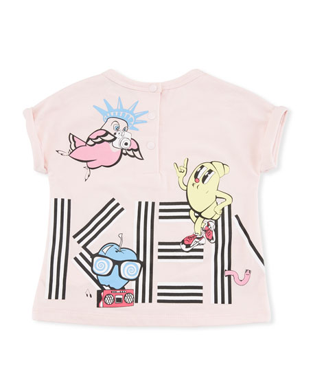 Ice Cream Logo Graphic T-Shirt, Pink, Size 6-18 Months