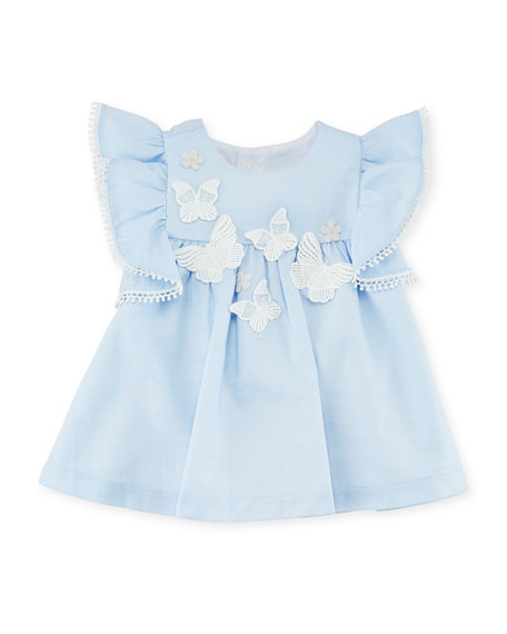 Butterfly Blouse w/ Bow Leggings, Size 3-24 Months
