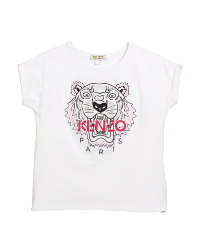 Tiger Face T-Shirt, Sizes 8-12
