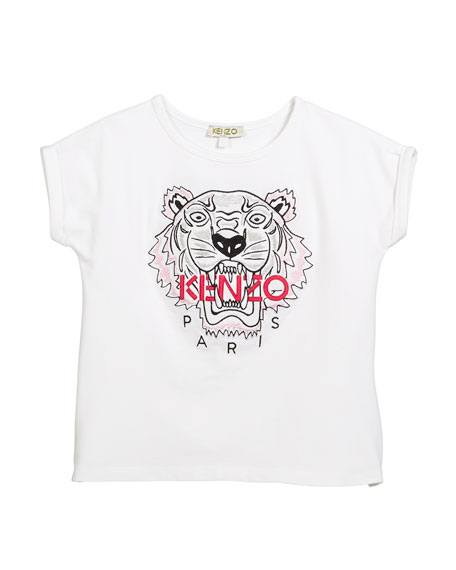 Tiger Face T-Shirt, Sizes 4-6