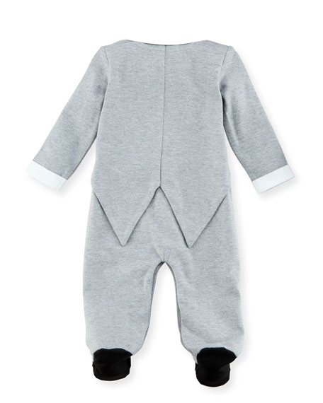 Mock-Tuxedo Footed Coverall, Size 3-9 Months