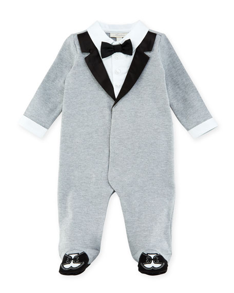 Miniclasix Mock-Tuxedo Footed Coverall, Size 3-9 Months