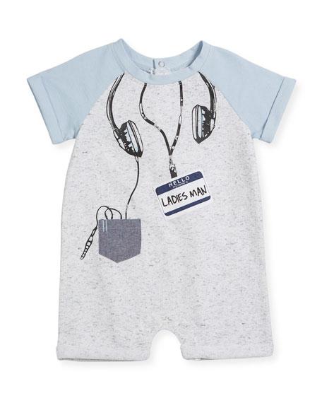 Miniclasix Raglan Shortall w/ Headphones Trompe l'Oeil, Size