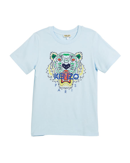 Short-Sleeve Logo Tiger Face T-Shirt, Size 2-6