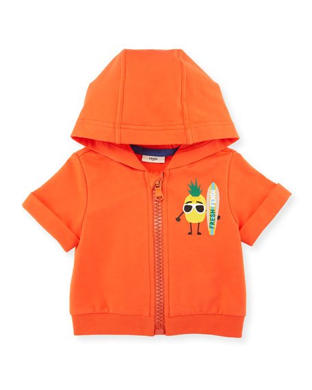 Fendi Pineapple Surfer Zip-Up Hoodie, Size 12-24 Months