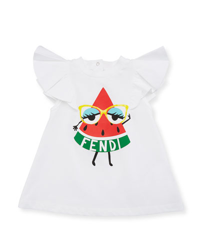 Watermelon Logo A-Line Dress, Size 12-24 Months