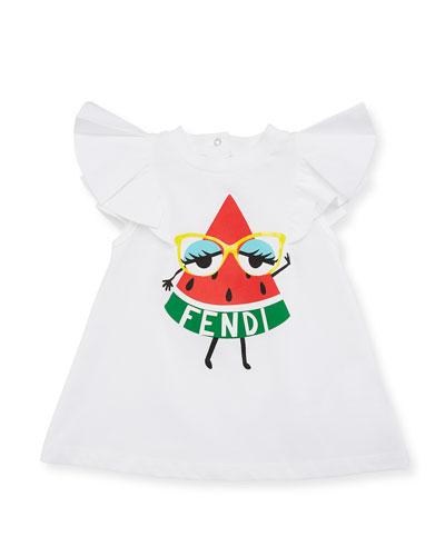Watermelon Logo A-Line Dress, Size 12-24 Months