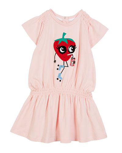 Shirred Strawberry Dress, Size 12-24 Months