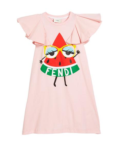 Watermelon Logo Dress, Size 3-5