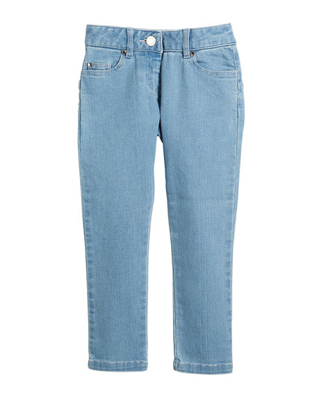 Star-Back Denim Trousers, Size 4-5