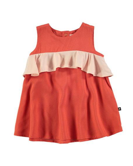 Molo Catja Burnt Sienna Sleeveless Dress w/ Contrast