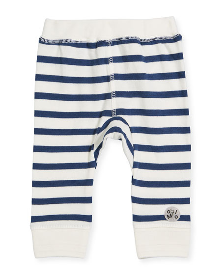 Striped Cotton Sailor Soft Pants, Size 6-24 Months