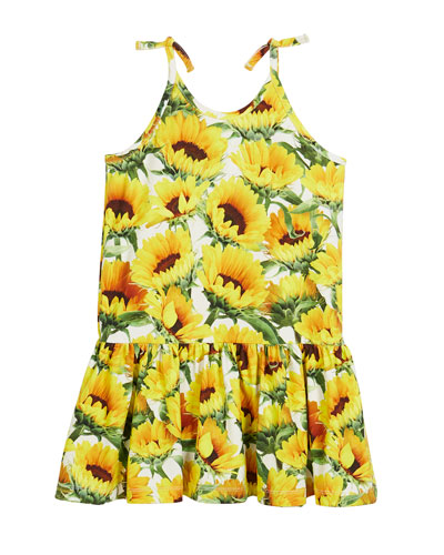 Camilla Sunflower Fields Tie-Strap Dress, Size 3T-12