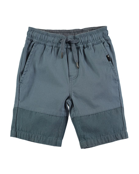 Molo Andro Cotton-Stretch Shorts, Size 4-10