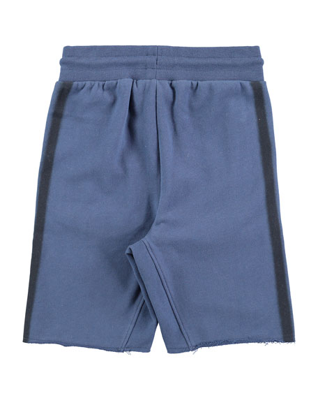 Aliases Cotton-Blend Sweat Shorts w/ Contrast Sides, Size 4-10