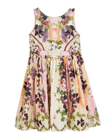 Chalice Vegetable Garden Sleeveless Dress, Size 2T-10