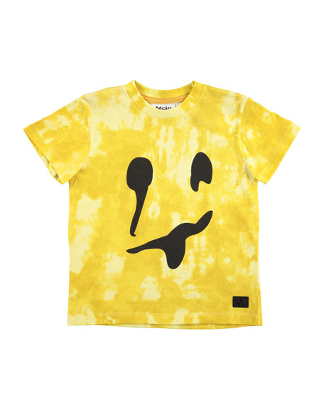 Molo Raymont Tie-Dye Smiley Face T-Shirt, Size 4-10