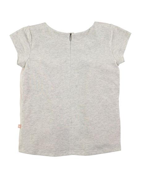 Rubertha Cap-Sleeve Horse T-Shirt, Size 4-12